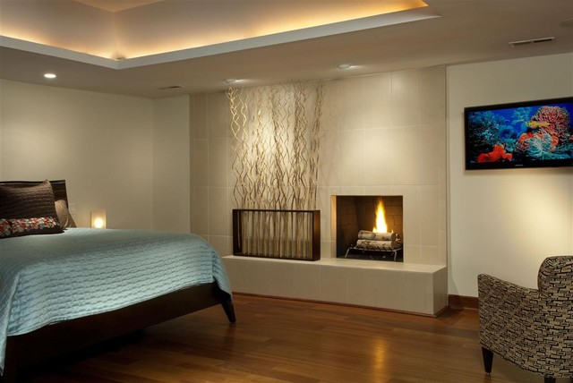contemporary bedroom by Tongue & Groove