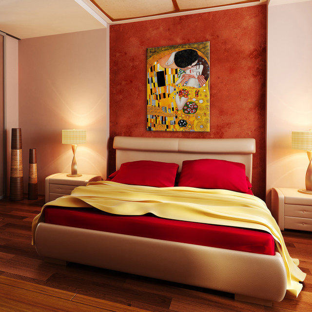Painted Bedrooms. Oil Paintings for Bedrooms modern bedroom  Modern Bedroom Wichita by