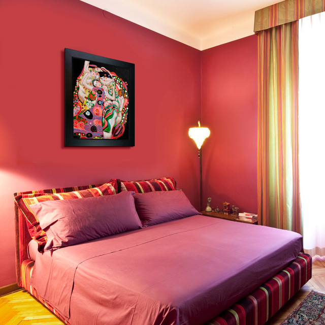 Oil paintings for bedrooms contemporary bedroom for Bedroom painting designs for small rooms