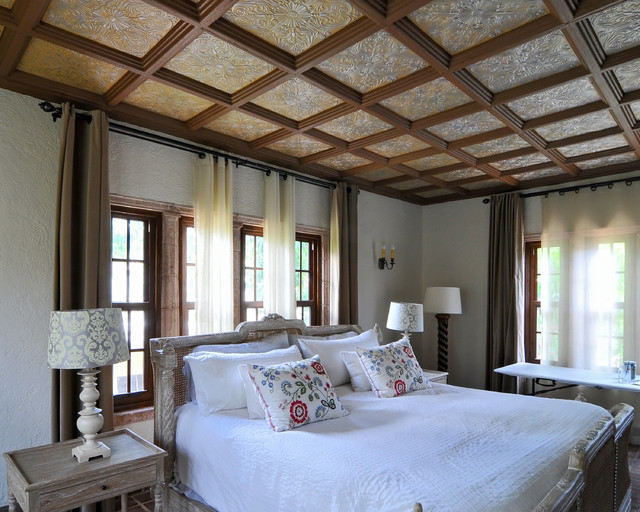 Old Spanish Villa - Coral Gables - Traditional - Bedroom - miami - by Decorative Ceiling Tiles, Inc.