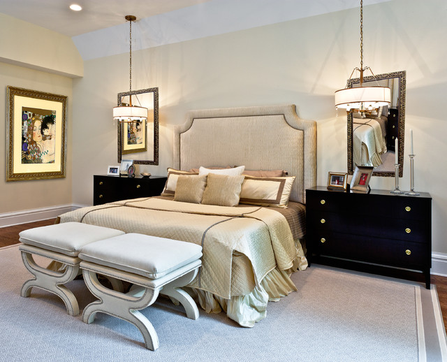 Old Westbury, NY contemporary-bedroom