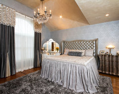 Old World Hollywood eclectic bedroom