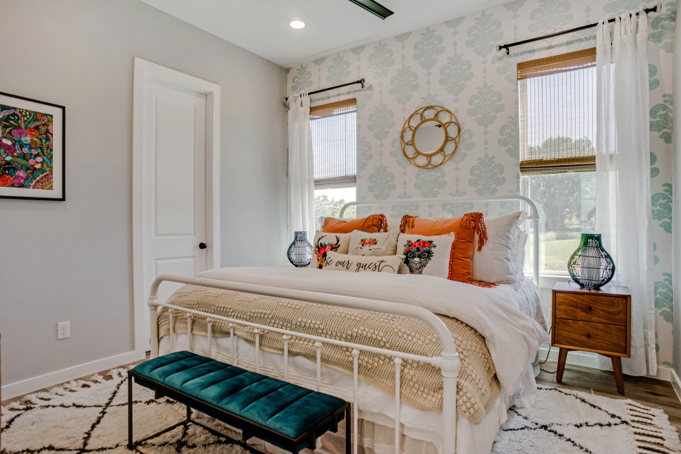 Example of a cottage bedroom design in Dallas