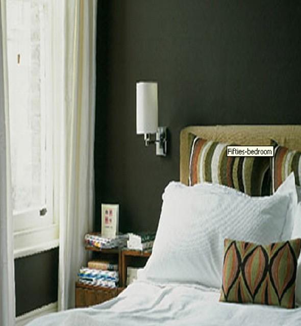 Olive green bedroom walls