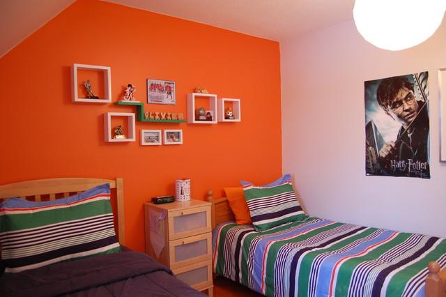 Olivier 39 S Orange Bedroom Contemporary Bedroom