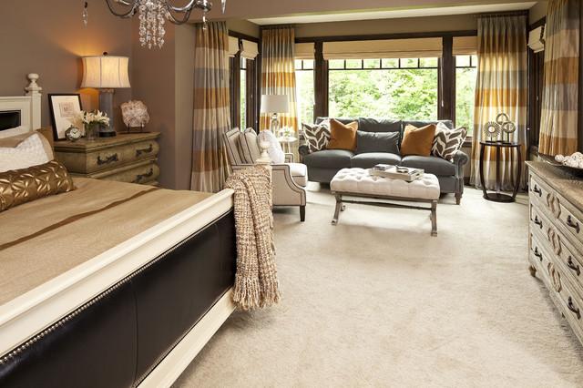 Transitional Bedroom Ideas olstad drive residence master bedroom - transitional - bedroom