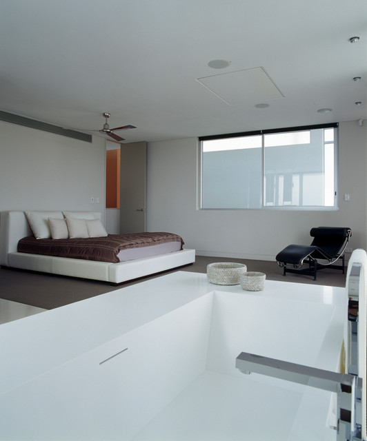 Open plan parents retreat modern bedroom other metro for Modern ensuite designs