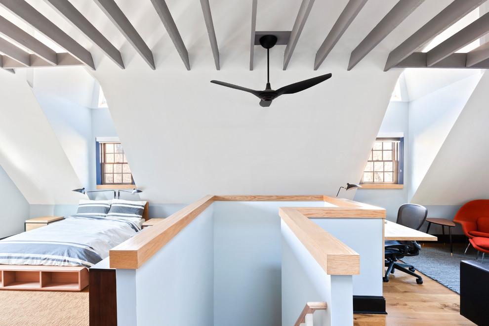 Open Studio Attic Remodel Craftsman Bedroom New York By Ward 5 Design