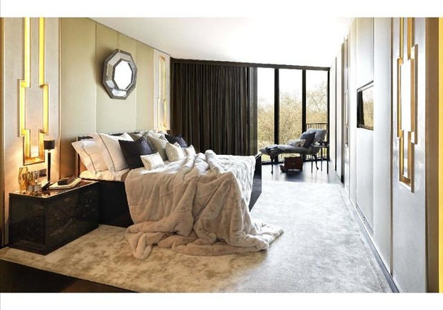 Opulent interiors transitional bedroom london by for Opulent bedrooms