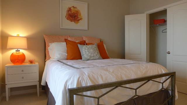 Orange and Grey House contemporary bedroom  Orange and Grey House  Contemporary Bedroom Orlando. Orange And Grey Bedroom