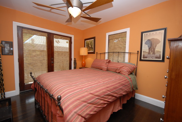 Orange Bedroom mediterranean bedroom