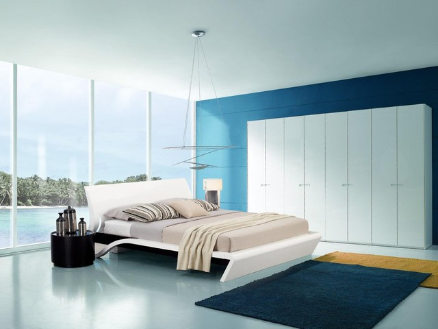 Orca Contemporary Platform Bed With Smart Touch Lights - Touch lights for bedroom