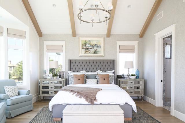 Orchid Custom Home - Beach Style - Bedroom - Orange County ...