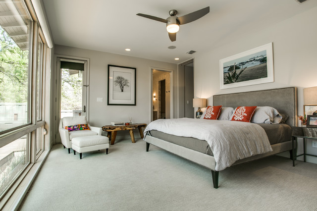 Organic Modern Bedroom Farmhouse Bedroom Dallas By