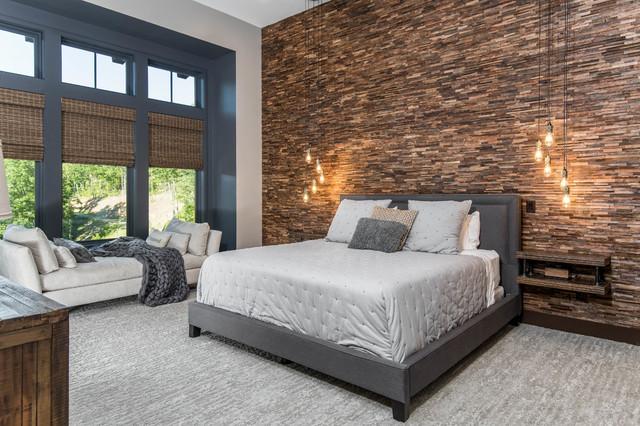 Organic Modern Mountain Home rustic-bedroom