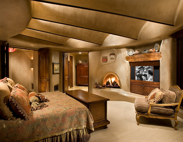 southwestern bedroom phoenix by urban design associates