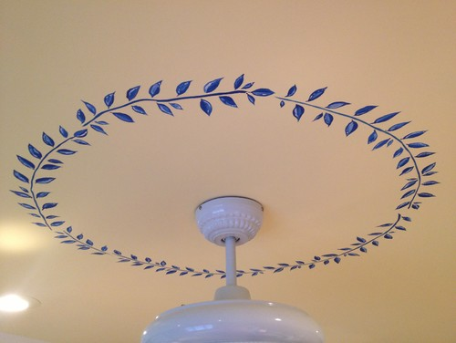 hand painted ceiling medallion, ceiling medallion,