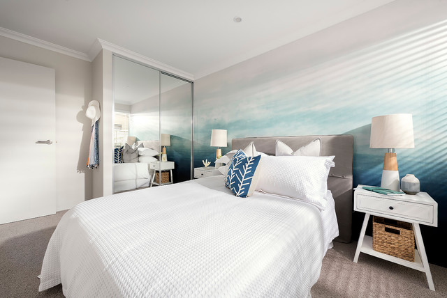 our display homes leighton i beach style bedroom perth by