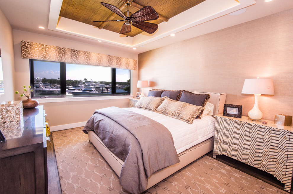 Example of an arts and crafts bedroom design in Miami