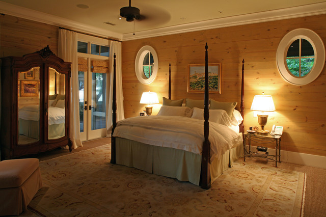 Oval windows add light and interest to Master Bedroom traditional bedroom