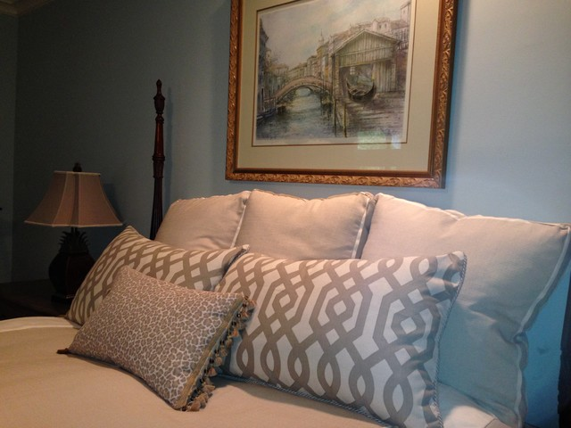 Overlook gets a new look transitional bedroom for Cheryl draa interior designs