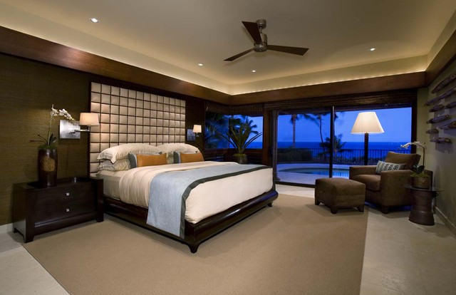 Ownby Design tropical bedroom