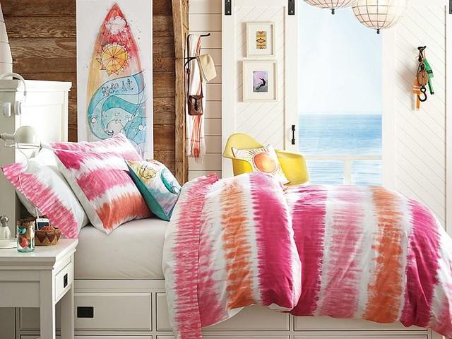 oxford tie dye bedroom traditional bedroom