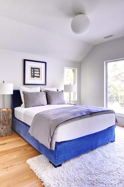 Oyster Shores Contemporary Barn Home contemporary-bedroom