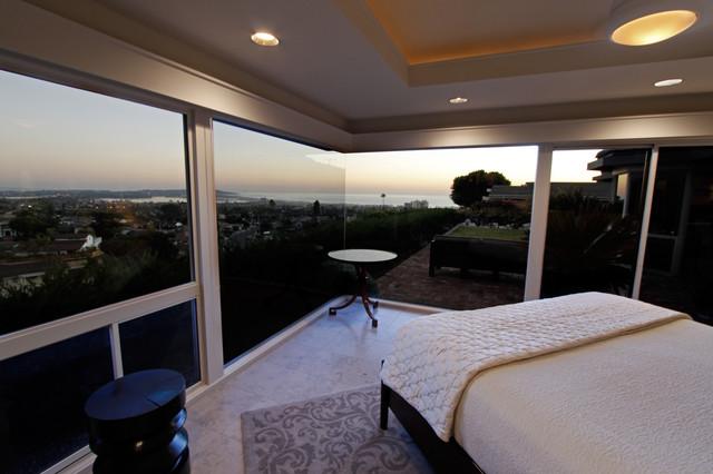 Pacific Beach Hilltop contemporary-bedroom