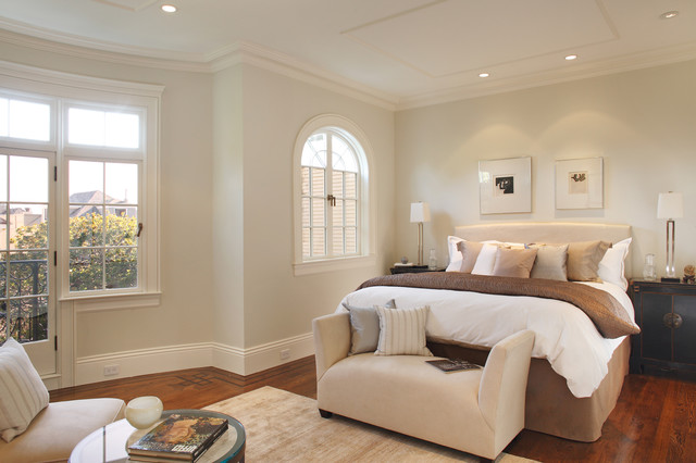Inspiration for a contemporary dark wood floor bedroom remodel in San  Francisco with gray walls. Baseboard Outlet   Houzz