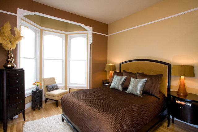 Pacific heights pop master bedroom by kimball starr for Interior design bedroom traditional