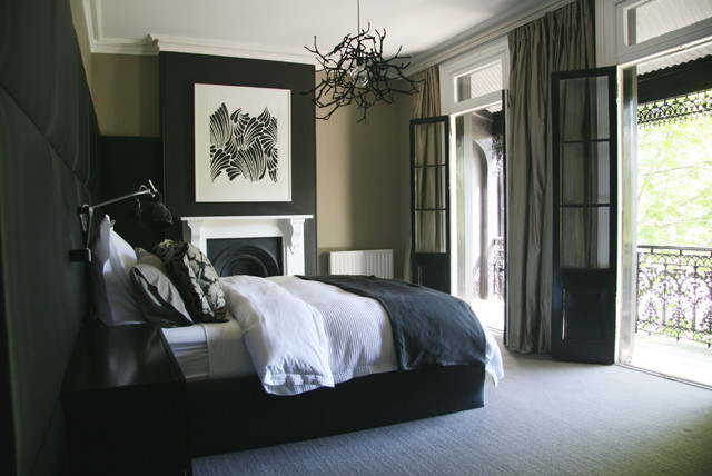 Paddington terrace for Black white taupe bedroom