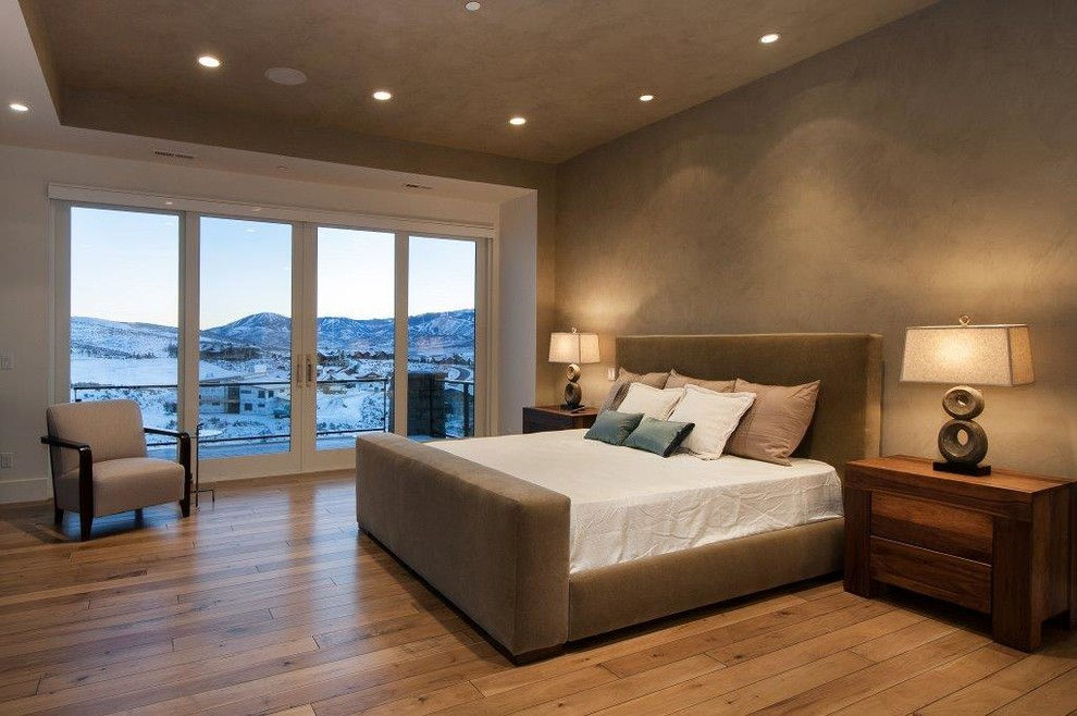 Example of a trendy bedroom design in Salt Lake City