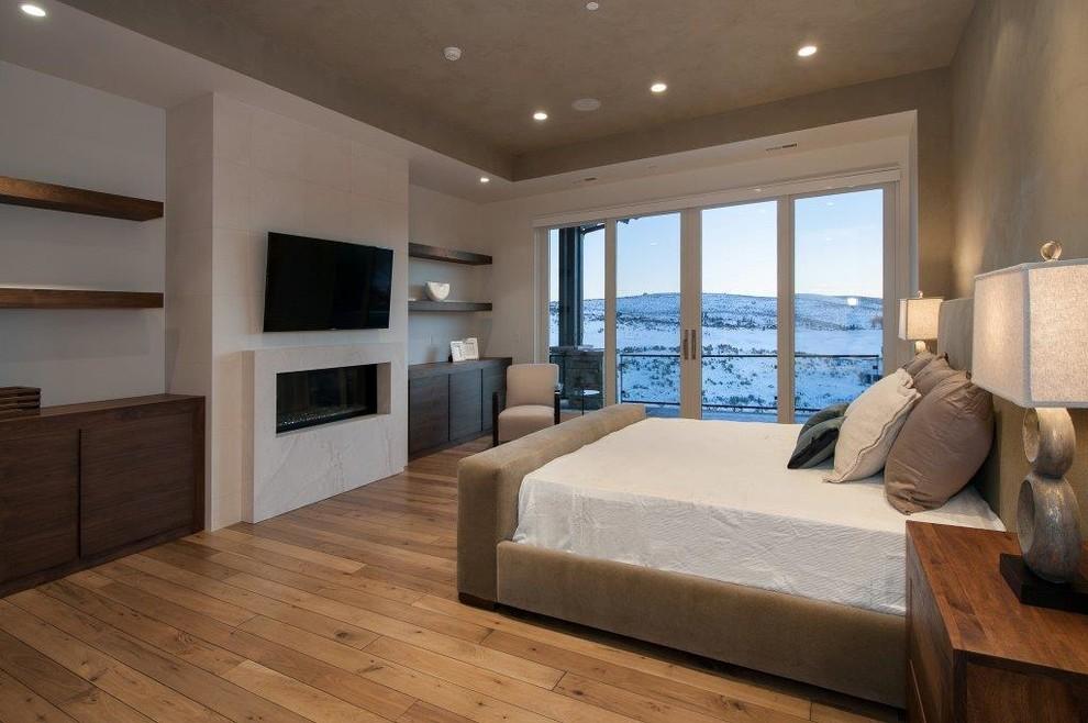 Bedroom - contemporary bedroom idea in Salt Lake City