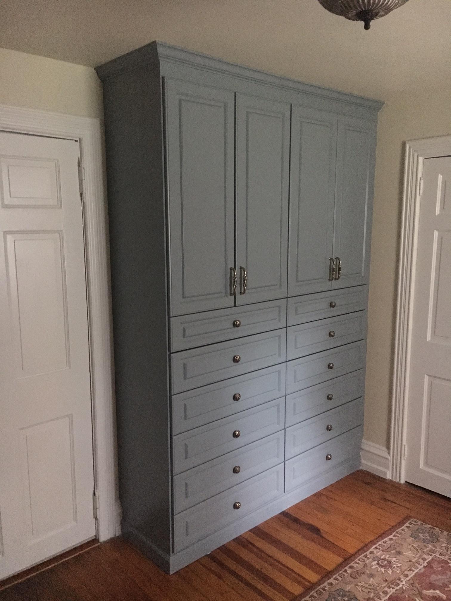 Painted Wardrobe units