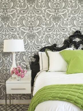 Paisley Guest Bedroom contemporary-bedroom
