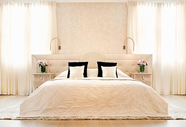 ivory bedding | houzz - Camera Da Letto Fendi