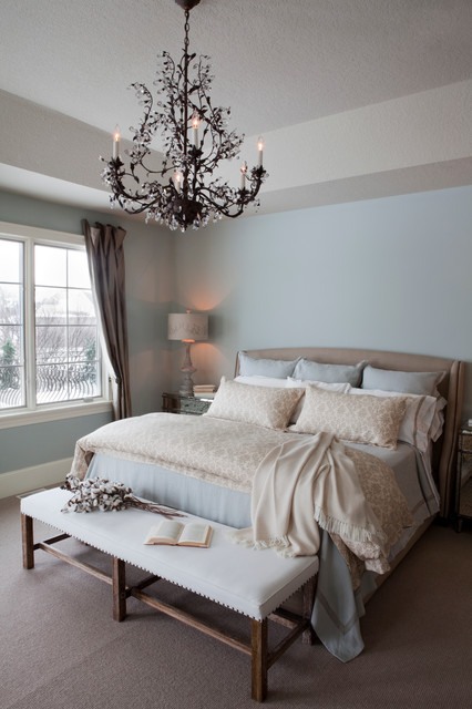 Blue Master Bedroom pale blue master bedroom - shabby-chic style - bedroom - other