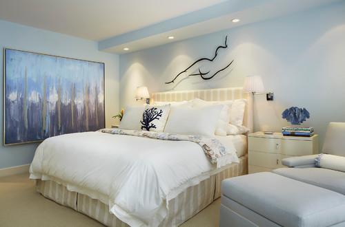 Transitional Bedroom by Palm Beach Gardens Interior Designers & Decorators Annie Santulli Designs