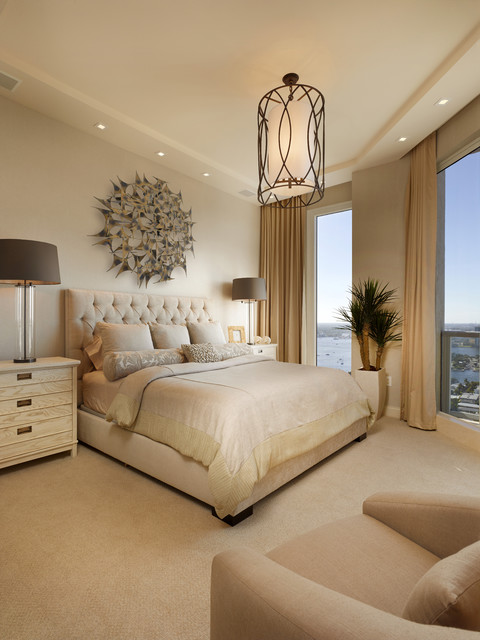 Palm Beach Residence Transitional Bedroom