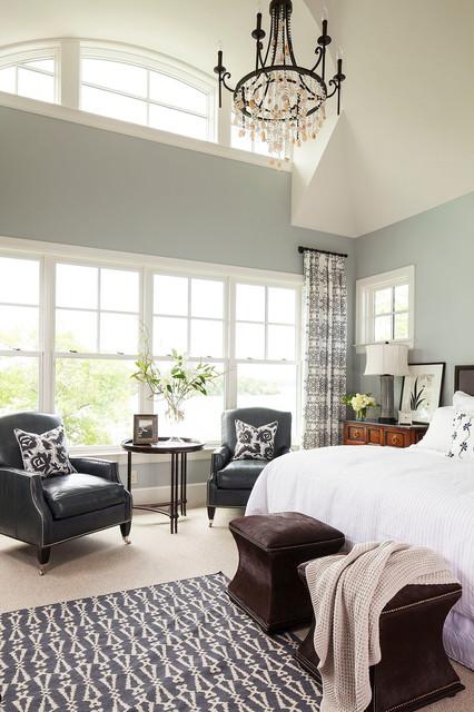 Palmer Point Road Residence 2  Master Bedroom transitional-bedroom