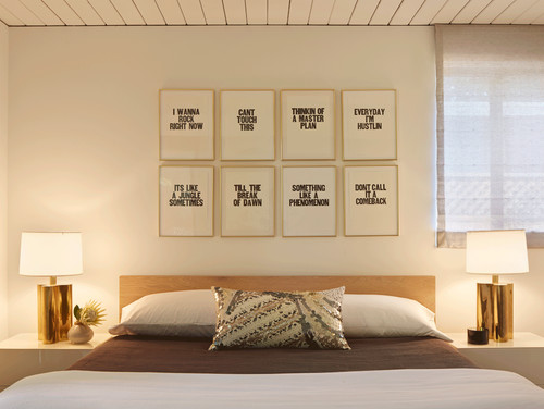 Hang tight art above a bed charles p rogers bed blog for Bed love decoration