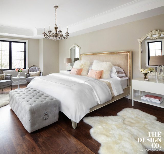 parisian chic transitional bedroom toronto by the design co