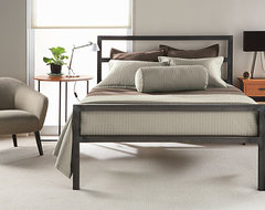 Parsons Bed in Natural Steel by R&B contemporary bedroom