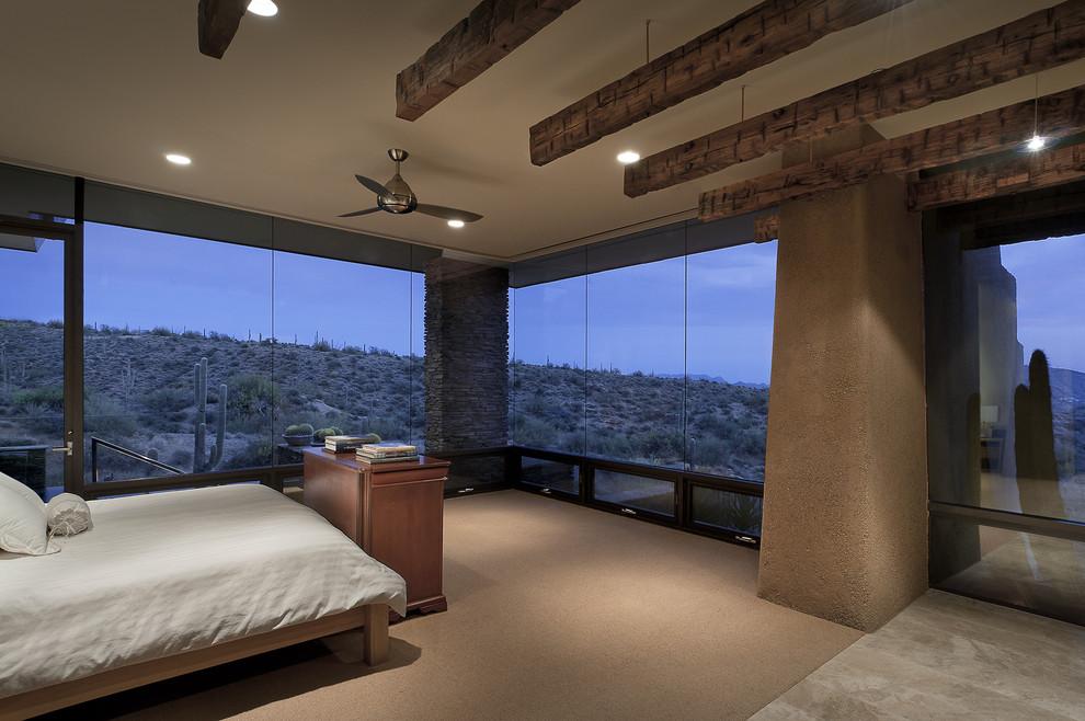 Trendy bedroom photo in Phoenix