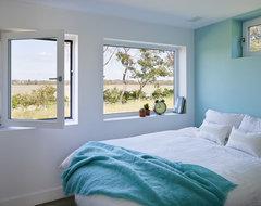 Passive House Retreat farmhouse-bedroom