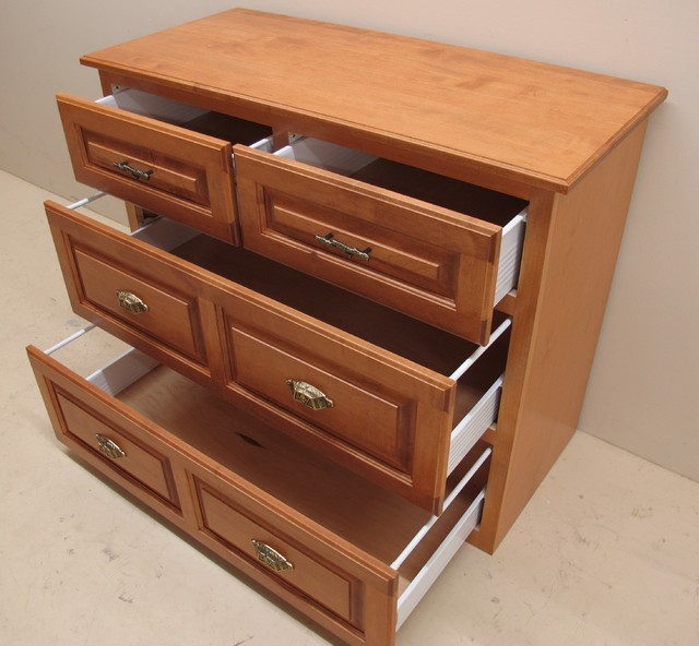 Custom Solid Maple 4 Drawer Dresser