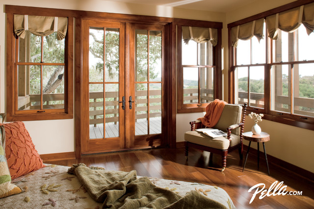 Pella architect series double hung windows brighten up for Double hung french patio doors