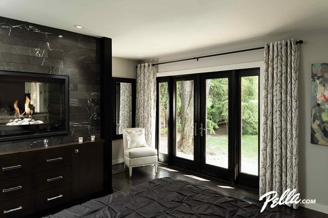 Pella Architect Series Hinged Patio Door Contemporary Bedroom