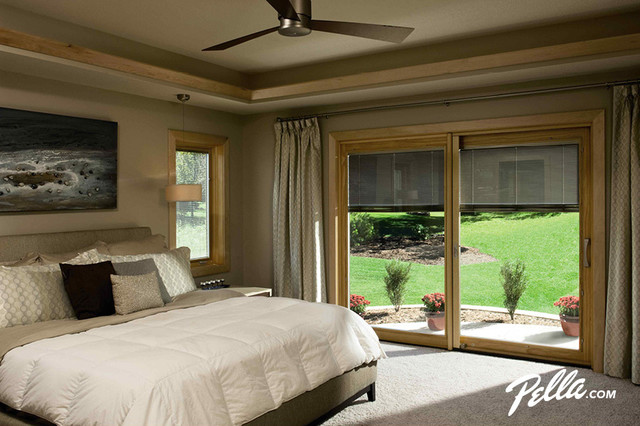 Pella® Designer Series® sliding patio door contemporary-bedroom - Pella® Designer Series® Sliding Patio Door - Contemporary